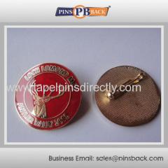 1 inch Die struck cloisonne lapel pin
