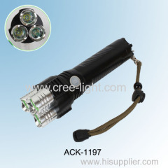 2014 New! 6600lumens Rechargeable High Power CREE LED Torch ACK-1197 With 3x CREE XPE R2 LED
