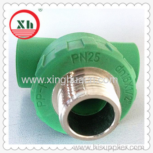 "PP-R combined fittings male tee DN16X1/2""M"