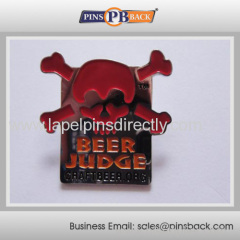 Metal die struck soft enamel trading lapel pin