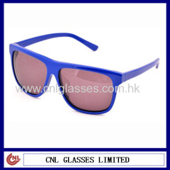 Acetate branded blue sunglasses + made in china sunglasses