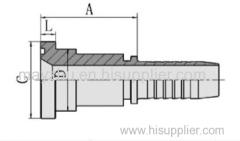 SAE FLANGE 6000 PSI ISO 12151-3 SAE J516 Hydraulic hose fitting 87611