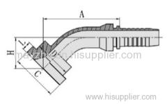 45° SAE FLANGE 6000PSI ISO 12151-3- SAE J516 Hydraulic hose fitting 87641