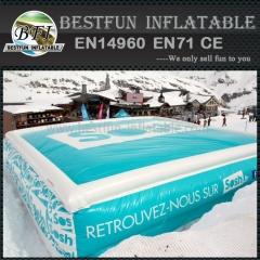 Logo Print Snowboard Cushion