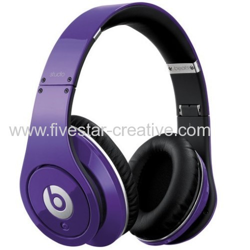 Beats Studio by Dr.Dre High Definition Over-the-ear Headphones Purple