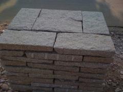 bush hammered granite paving stone