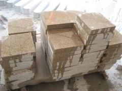 natural granite paving stone cube stone
