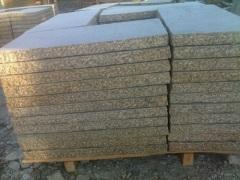 Construction Material Light Grey Granite Paving Stone