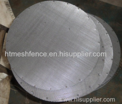 steel Herringbone wire mesh metallic filter mesh disc