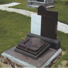 modern granite gravestone simple design