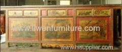 Antique Mongolia sideboard 5drawrs 6 doors