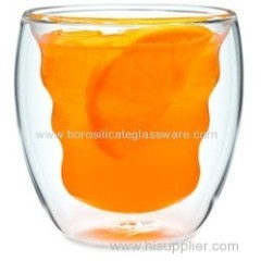Hand Made Borosilicate Double Wall Glass cups with high quality