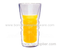 Hand blown Borosilicate Double Wall Glass cups