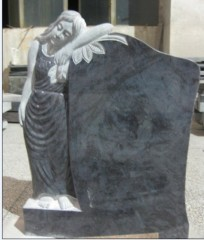 Customizable grey granite angel headstones