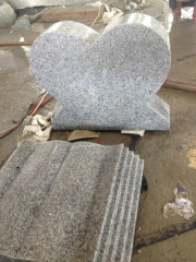 simple grey granite gravestone