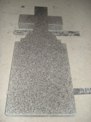 Natural Granite Headstone with Laser Carving