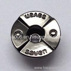 Single Pin Jeans Button Shiny Gun Metal Color