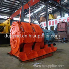 High quality 7.5kw Double-drum scraper winch