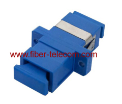 fiber adaptor with plastic housing