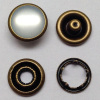 Pearl Cap Prong Snap Button Anti Brass Color