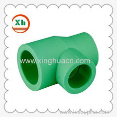 PP-R plastic fittings reduced tee DN32X25X25