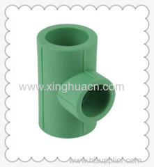 PP-R plastic fittings reduced tee DN25X20-DN110X90