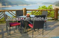 Modern rattan dinning table and chairs