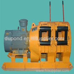 Coal mining 7.5kw electric scraper winch