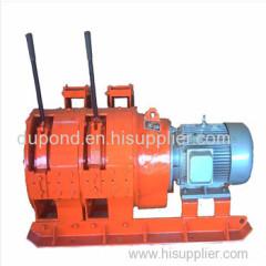 2JPB-7.5 wire rope electric scraper winch for coal mine