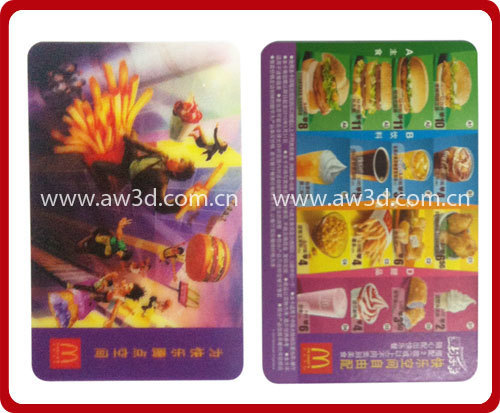 Lenticular card with 3D effection