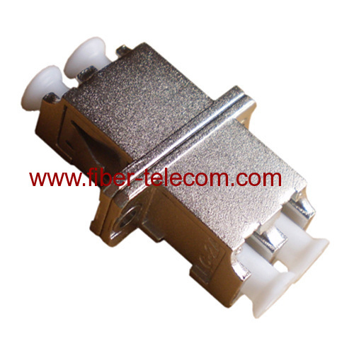 LC Metal housing duplex fiber optic adaptor