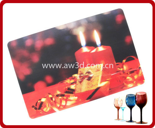 lenticular pp placemat with 3D effection
