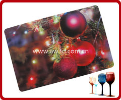 PP placemat ,3D lenticular placemat,3D lenticular tablemat