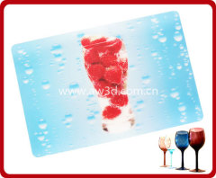 lenticular tablemat with 3D print, 3D lenticular placemat