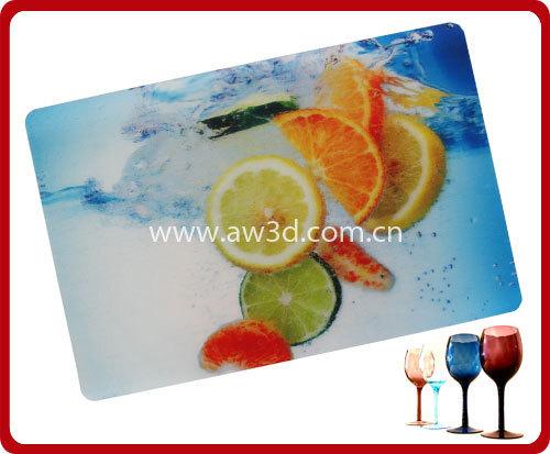 3D tablemat,3D placemat,3D lenticular placemat