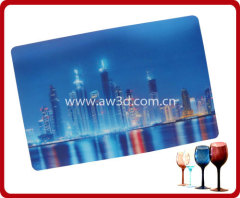 3D lenticular table mat