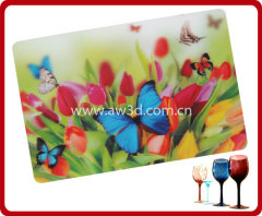 3D lenticular table mat, 3D lenticular placemat