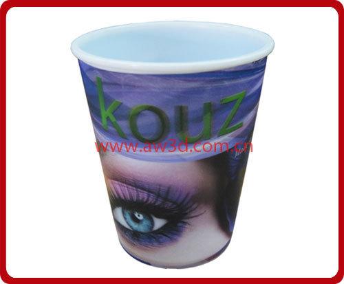 3D lenticular plastic cup