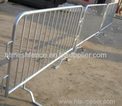 Bridge Base galvanized metal crowd control barriers