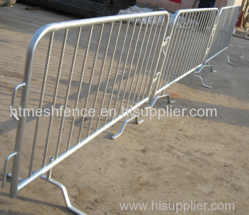 Bridge Base galvanized metal crowd control barriers