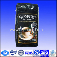 side gusset coffee pouch with valve