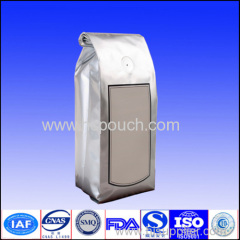 side gusset aluminum coffee bag with valve