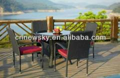 rattan dinning table and chairs