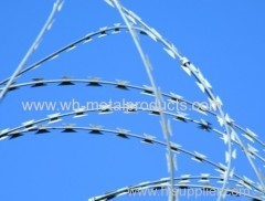 concertina wire coil with clips high security barrier