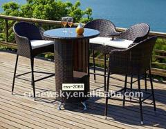 New design UV-proof rattan bar furniture set