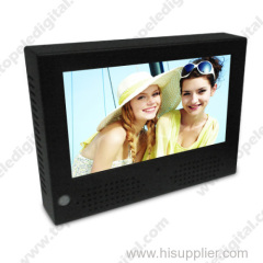 7inch LCD advertising player with external battery