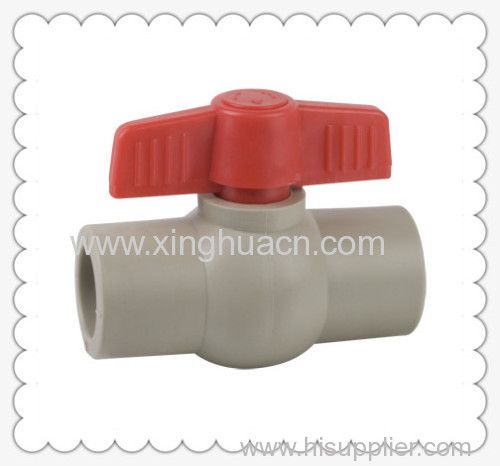PP-R plastic socket ball valve with butterfly handle