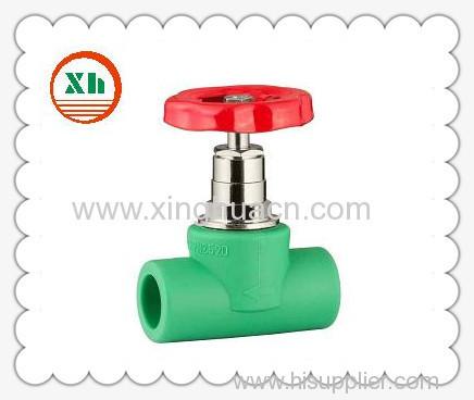 PP-R heavy stop valve with handwheel