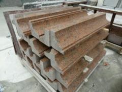 granite countertop with different edge treatment