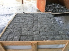marble slab block with wooden packge